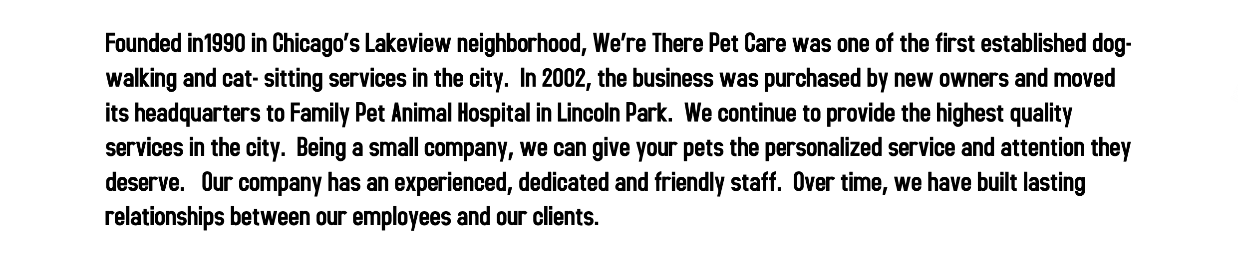 we're there pet care